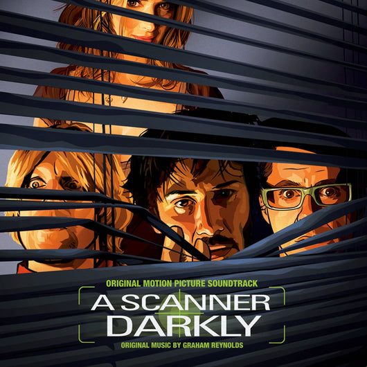 A SCANNER DARKLY Soundtrack DOUBLE LP Green Marbled Vinyl NEW 2017