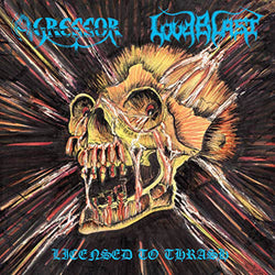 Agressor & Loudblast Licensed to Thrash Transparent Blue Vinyl LP New Out 15/11
