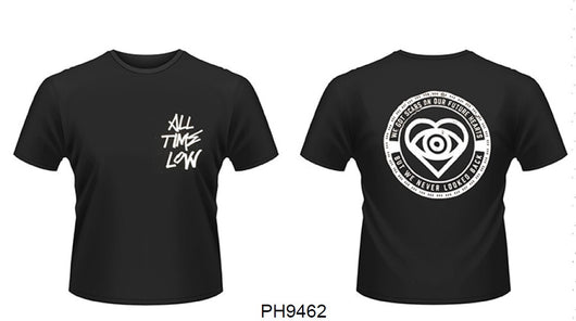 ALL TIME LOW Graffiti MENS Black Size LARGE T SHIRT NEW Front & Back Print