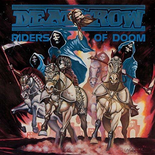 DEATHROW Riders of Doom LP Blue Vinyl NEW 2018
