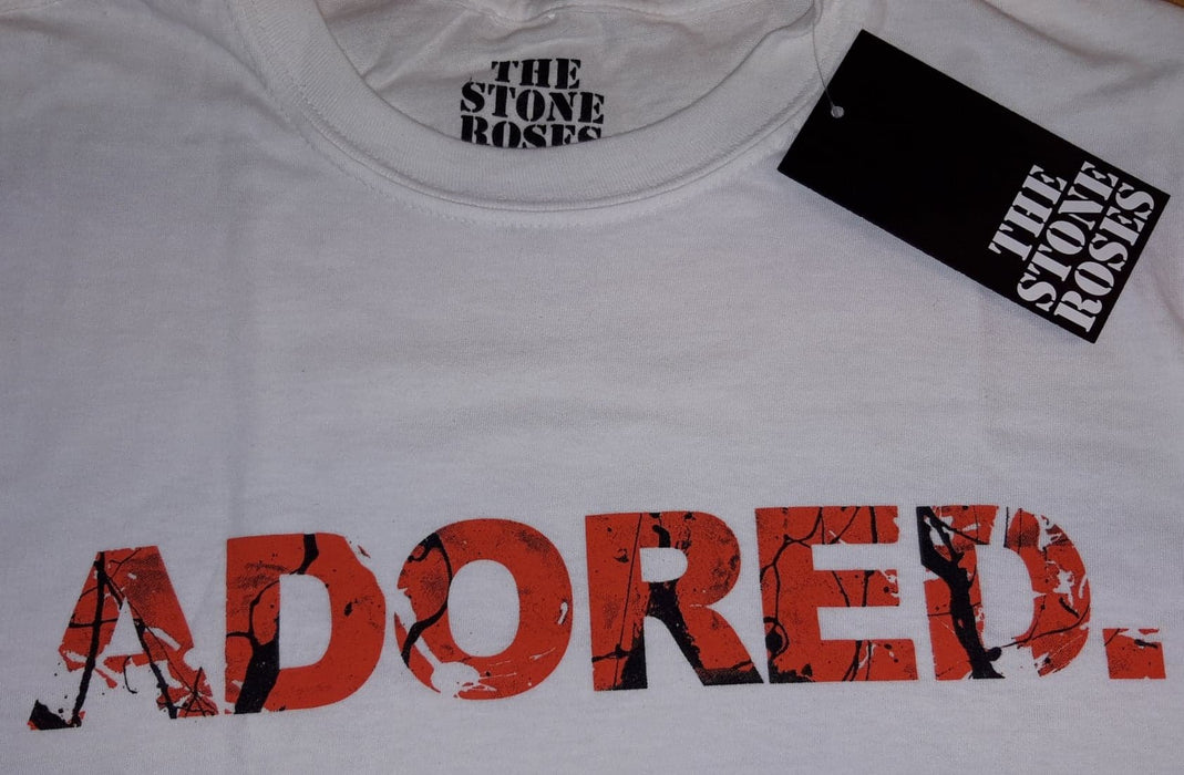 The Stone Roses Adored MENS White T-Shirt Medium New Official