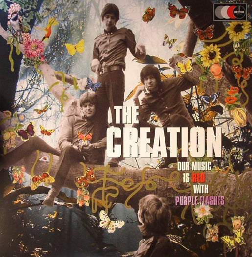 CREATION OUR MUSIC IS RED WITH PURPLE FLASHES LP VINYL 180GM NEW