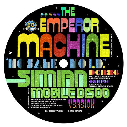 EMPEROR MACHINE - NO SALE NO I.D. (SIMIAN MOBILE DISCO MIX) 12
