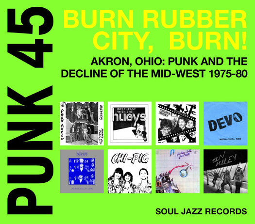 SJR PRESENTS PUNK 45 BURN RUBBER CITY BURN! LP VINYL 33RPM NEW 2015