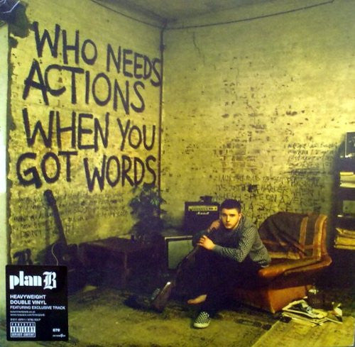 PLAN B Who Needs Actions When You Got Words DOUBLE LP Vinyl NEW 2015