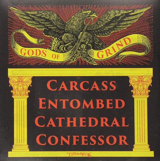 CARCASS ENTOMBED CATHEDRAL CONFESSOR GODS OF GRIND LP VINYL NEW 33RPM