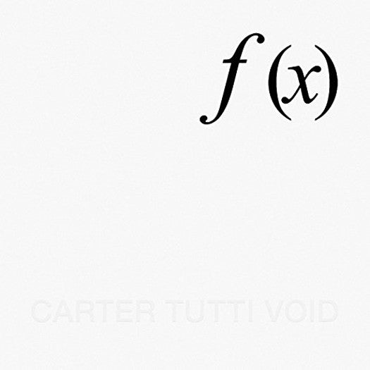 CARTER TUTTI F X VINYL LP NEW 33RPM