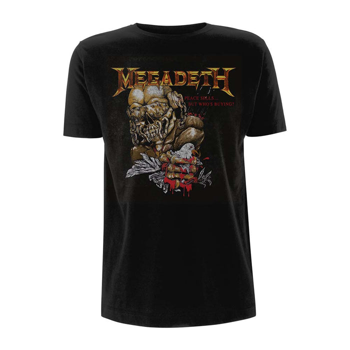 MEGADETH Peace Sells But Who's Buying MENS Black SMALL T-Shirt NEW