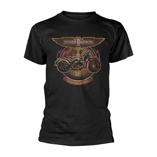 DOOBIE BROTHERS The Motorcycle Tour '87 MENS Black SMALL T-Shirt NEW