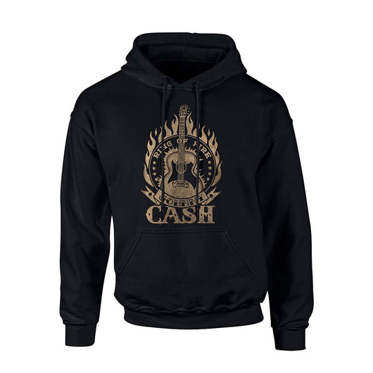 JOHNNY CASH Ring Of Fire MENS Black XL Hoodie NEW