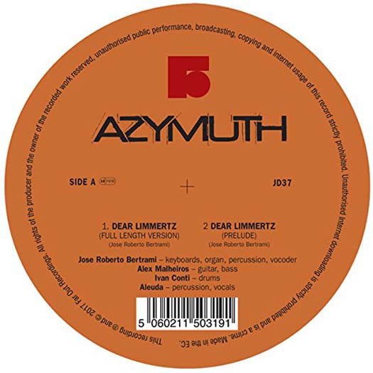 AZYMUTH Dear Limmertz & Maracana LP Vinyl NEW 2017