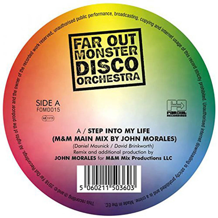 "Far Out Monster Disco Orchestra Step into My Life Remix 7"" Vinyl Single New 2018"