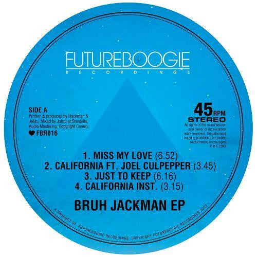Bruh Jackman Bruh Jackman Electronic House Music EP 12'' Single Vinyl Brand New