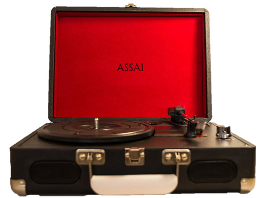 ASSAI RETRO STYLE BLACK SUITCASE RECORD PLAYER VINYL TURNTABLE BOXED & NEW