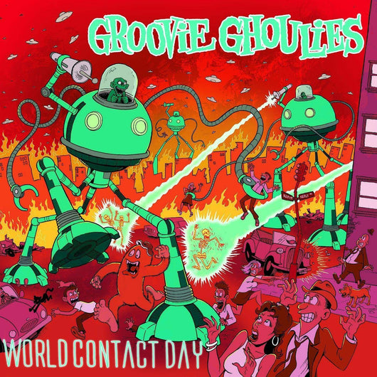 GROOVIE GHOULIES World Contact Day LP Coloured Vinyl NEW 2018