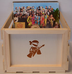 Assai Vinyl Record Storage Crate Wooden Boxed New