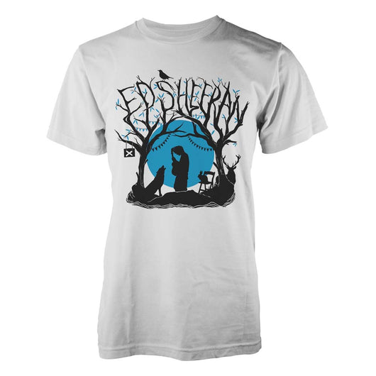 ED SHEERAN Woodland Gig MENS White Size LARGE T-SHIRT NEW Official