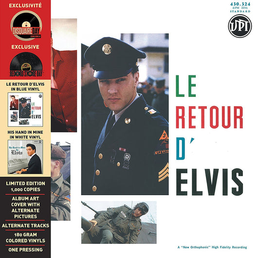 EVIS PRESLEY Le Retour dElvis His Hand In Mine LP Vinyl NEW RSD 2016