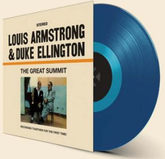 Louis Armstrong & Duke Ellington Great Summit Blue Vinyl LP New 2018
