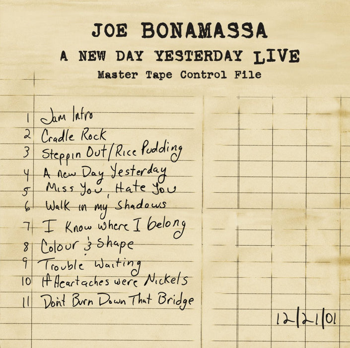 JOE BONAMASSA A NEW DAY YESTERDAY LIVE LP VINYL 33RPM NEW