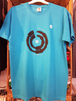 PARANOID ANDROID Audio-File Soundwave T-SHIRT Mens XL New BLUE