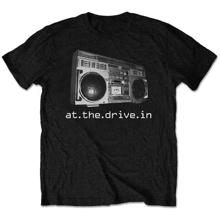 At The Drive In Packaged Boombox Black Medium Unisex T-Shirt