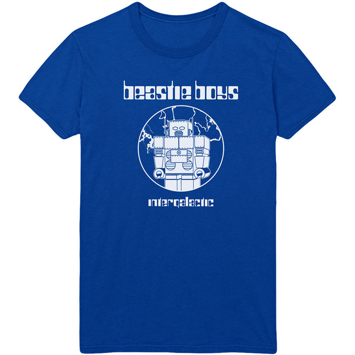 Beastie Boys Intergalactic Blue Large Unisex T-Shirt