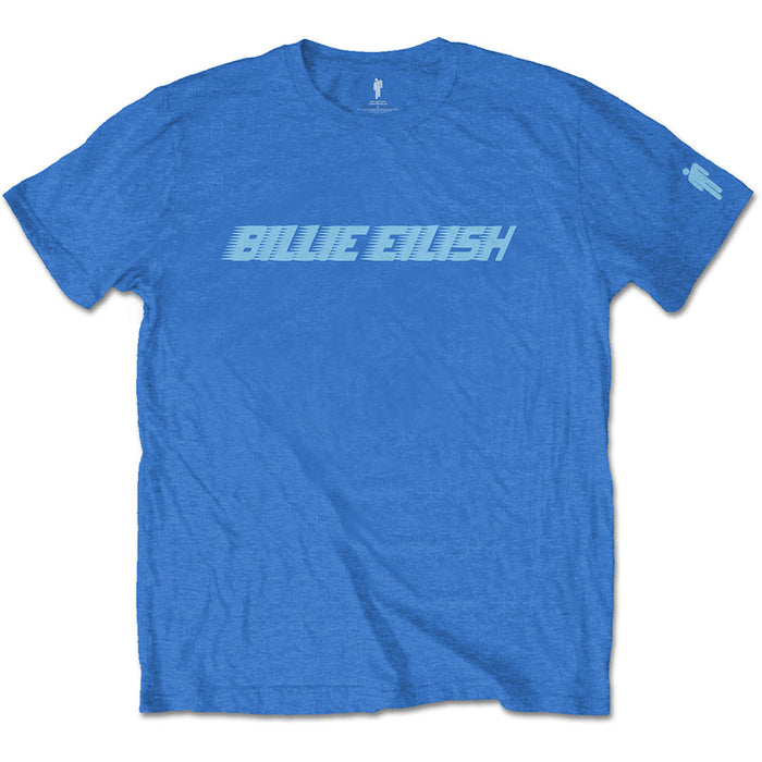 Billie Eilish Racer Logo Blue Small Unisex T-Shirt