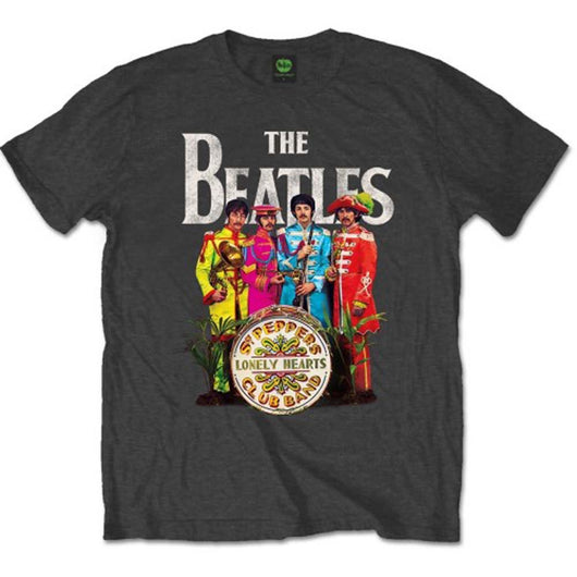 BEATLES SGT PEPPER T-SHIRT MEDIUM MENS NEW OFFICIAL DARK GREY