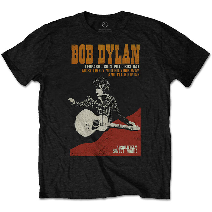 Bob Dylan Sweet Marie Black Small Unisex T-Shirt