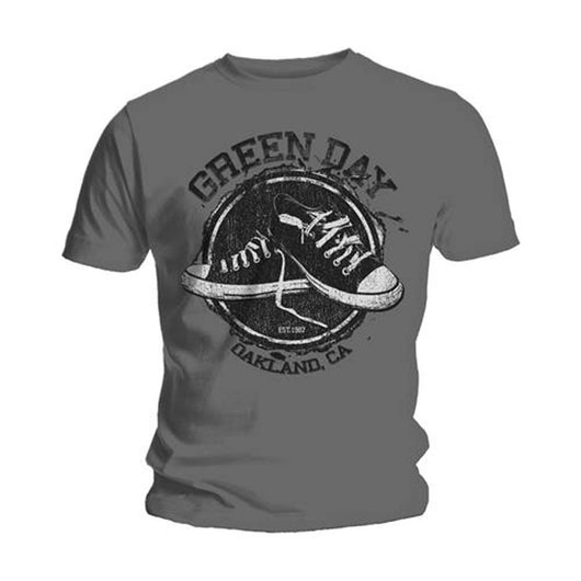 GREEN DAY CONVERSE T-SHIRT LARGE MENS NEW OFFICIAL GREY