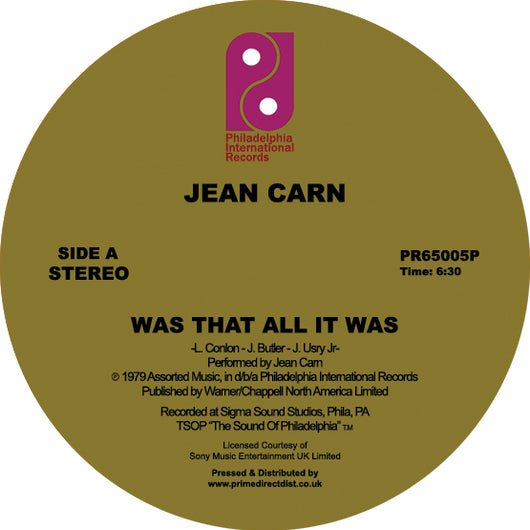 Jean Carn - Was That All It Was / Don't Let It Go to Your Head 12