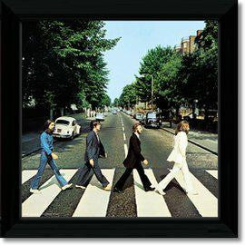 BEATLES ABBEY ROAD FRAMED REPLICA LP VINYL PRINT NEW 33RPM