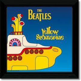 BEATLES YELLOW SUBMARINE 1 FRAMED REPLICA LP VINYL PRINT NEW 33RPM