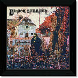 BLACK SABBATH BLACK SABBATH FRAMED REPLICA LP VINYL PRINT NEW 33RPM