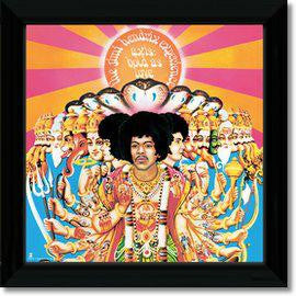 JIMI HENDRIX AXIS BOLD AS LOVE FRAMED REPLICA LP VINYL PRINT NEW 33RPM