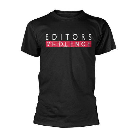 Editors Violence T-Shirt Black Small Mens New