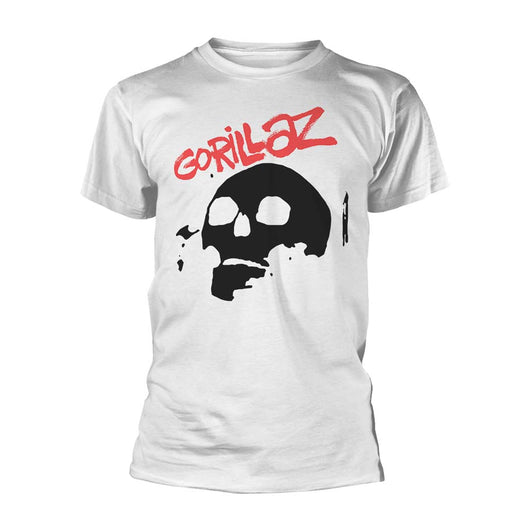 Gorillaz Skull T-Shirt White Large Mens New