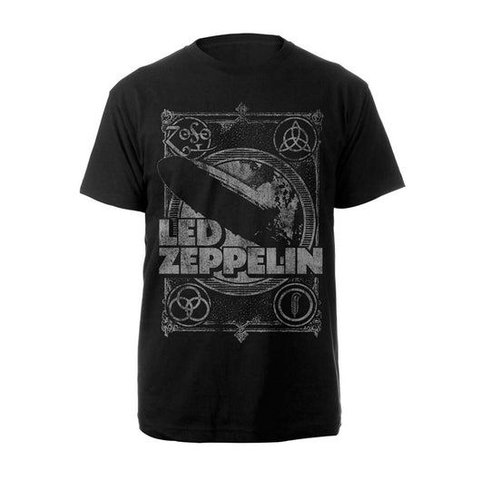 Led Zeppelin Vintage Print Lz1 T-Shirt Black XXL Mens New