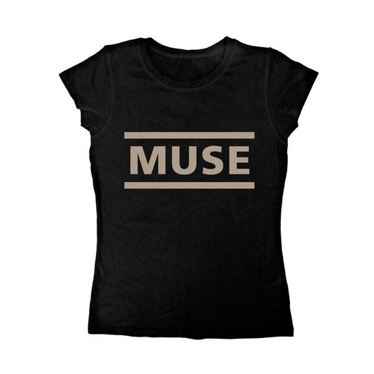 Muse Logo T-Shirt Black XL Ladies New