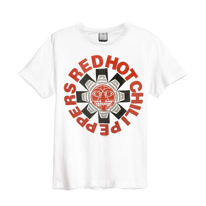 Red Hot Chili Peppers Aztec T-Shirt White Medium Mens New