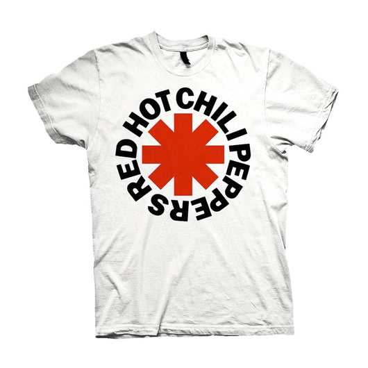 Red Hot Chili Peppers Red Asterisks T-Shirt White Medium Mens New
