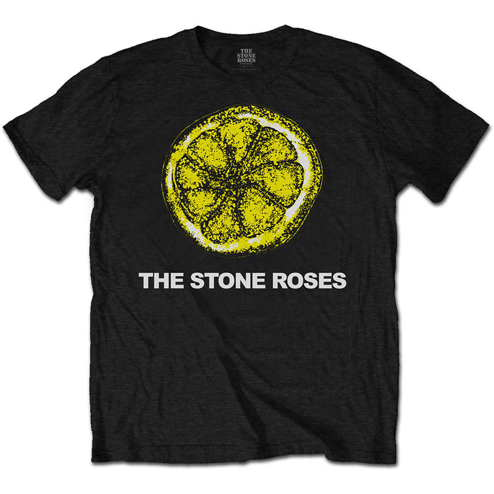 The Stone Roses Lemon & Logo MENS Black size SMALL T-Shirt New Official