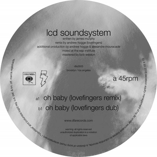 LCD Soundsystem Oh Baby 12