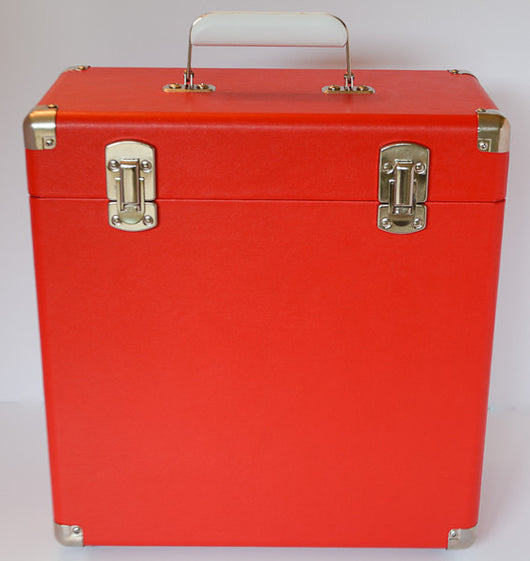 ASSAI VINYL LP RECORD RED STORAGE CARRY CASE BOX WITH HANDLE 12
