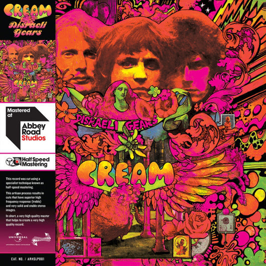 CREAM Disraeli Gears HALF SPEED Limited Edition LP Vinyl NEW