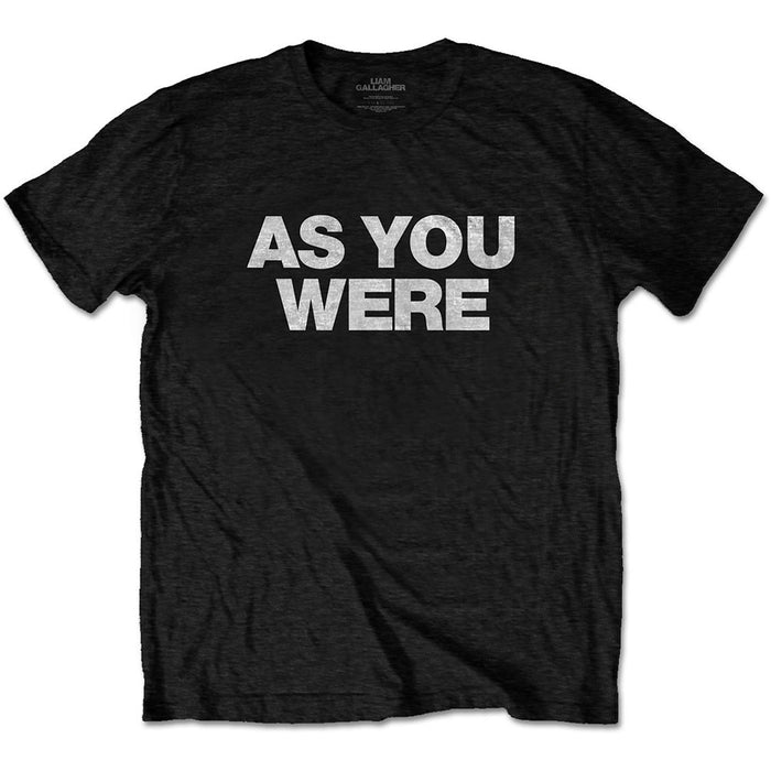 Liam Gallagher As You Were Black Large Unisex T-Shirt