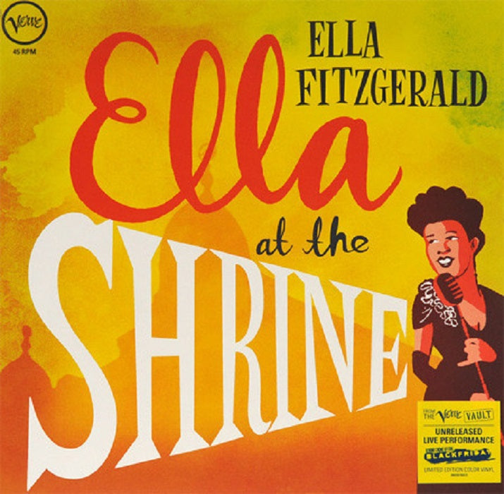 Ella Fitzgerald ?Ella At The Shrine Yellow Vinyl LP Black Friday 2018