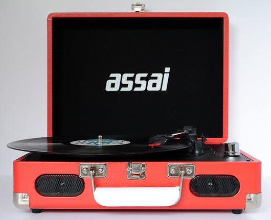 ASSAI Red Record Vinyl Player Retro Suitcase Turntable