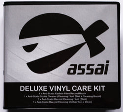 ASSAI Vinyl Record Cleaning Kit - Anti-Static Cloth & Brush, Stylus Cleaner& Cleaning Fluid